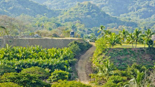 Las vistas desde y de colina del gringo playa sayulita