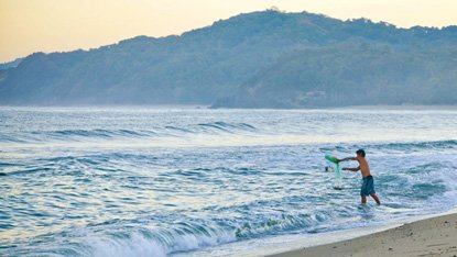 Sayulita's north beach is a popular spot for fishermen