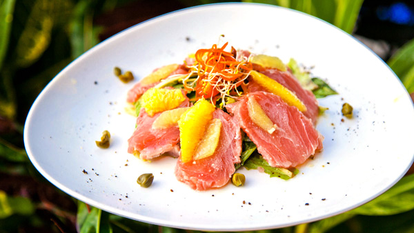 -en-tuna-carpaccio-on-a-salad-an-unusual-and-delicious-dish-es-carpaccio-de-atn-sobre-una-ensalada-delicioso-